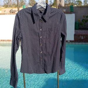 Club Monaco Polka Dot Shirt